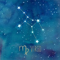 Star Sign Virgo Framed Print
