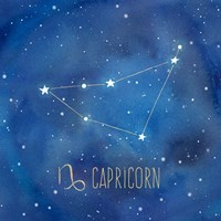 Star Sign Capricorn Fine Art Print