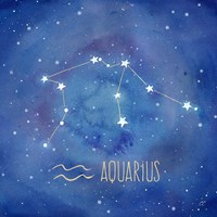 Star Sign Aquarius Fine Art Print