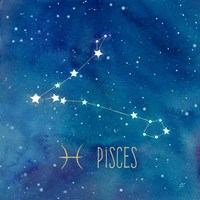 Star Sign Pisces Fine Art Print