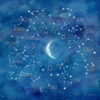 Star Sign with Moon Square Fine Art Print