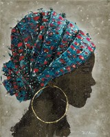 Profile of a Woman I (gold hoop) Fine Art Print