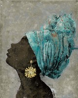 Profile of a Woman II (gold earring) Fine Art Print