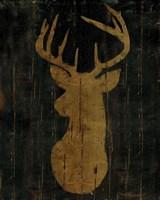 Rustic Lodge Animals Deer Head Fine Art Print