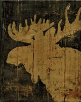 Rustic Lodge Animals Moose Fine Art Print