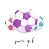 Sports Girl Soccer Fine Art Print