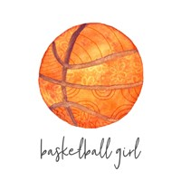 Sports Girl Basketball Fine Art Print
