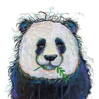 Panda with Leaf Fine Art Print