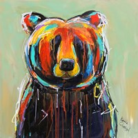 Painted Black Bear Fine Art Print