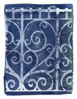 Wrought Iron Cyanotype I Fine Art Print