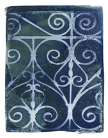 Wrought Iron Cyanotype II Fine Art Print