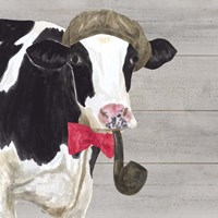 Intellectual Animals II Cow and Pipe Fine Art Print