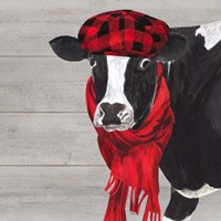 Intellectual Animals III Cow and Scarf Fine Art Print