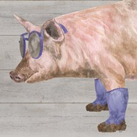 Intellectual Animals V Pig in Boots Fine Art Print