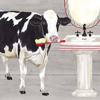 Bath time for Cows Sink Fine Art Print