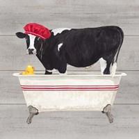 Bath time for Cows Tub Fine Art Print