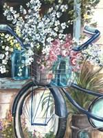 Vintage Bike and Mason Jar Fine Art Print