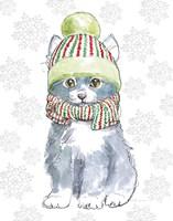 Christmas Kitties II Snowflakes v2 Fine Art Print
