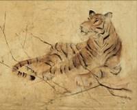 Global Tiger Light Crop Fine Art Print