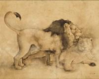 Global Lions Light Crop Framed Print