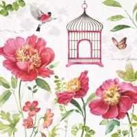 Pink Garden IV Fine Art Print