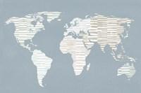 Calm World Map Fine Art Print