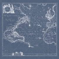 Mar del Nort Blueprint Fine Art Print
