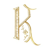 French Sewing Letter K Fine Art Print
