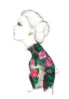 Floral Turtleneck Fine Art Print
