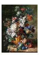 Jan van Huysum, Bouquet of Flowers in an Urn Fine Art Print