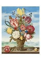 Ambrosius Bosschaert, Bouquet of Flowers on a Ledge Fine Art Print