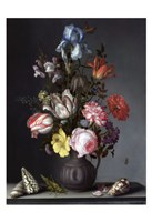 Balthasar van der Ast, Flowers in a Vase with Shells and Insects Fine Art Print