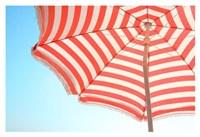 Beach Umbrella and Sky Fine Art Print