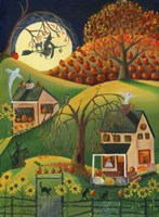 Halloween Witches House Fine Art Print