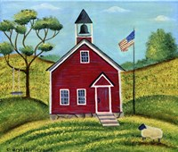 Little Red School House Fine Art Print