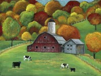 Colors of Autumn Barnyard Fine Art Print