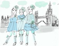 London Girls Fine Art Print