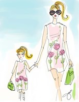 Mommy And Me Pink Fine Art Print