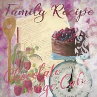 Family Recipe Chocolate Fudge Cake Fine Art Print