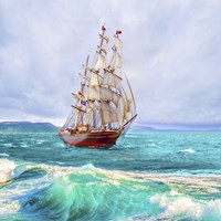 Sailing The Ocean Fine Art Print