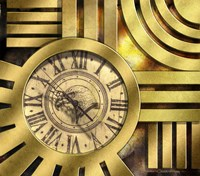 Art Deco Clock Fine Art Print