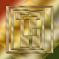 Brass Design 8 Fine Art Print