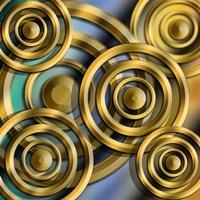 Circles 3D Fine Art Print