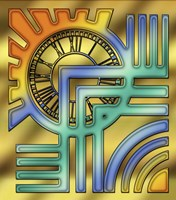 Colorful Clock Fine Art Print