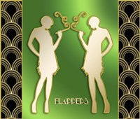 Art Deco Flappers Fine Art Print