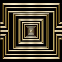 Gold Deco 7 Fine Art Print