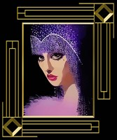 Woman In Purple Hat Frame 3 Fine Art Print