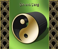 Yin And Yang 3D Fine Art Print