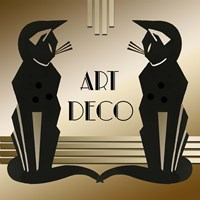 Art Deco Cats 1 Fine Art Print