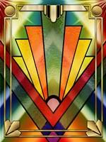 Art Deco Chevron 2V Fine Art Print